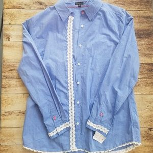 Hannah women's button down top size M